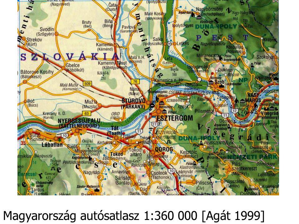 Magyarország autósatlasz 1:360 000 [Agát 1999]